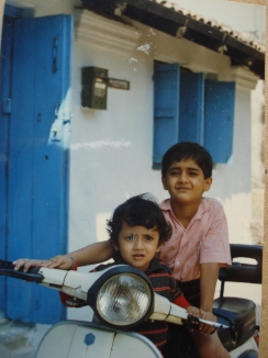 With my brother outside my Grandparent's house in Sambalpur